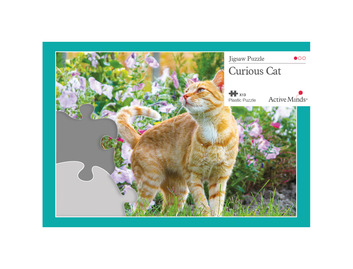 13 Piece Jigsaw Curious Cat