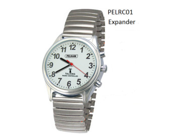 Talking Radio controlled Watch Silver Expander wrist strap - Large