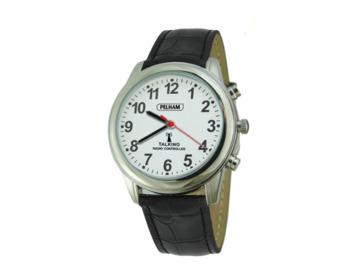 Talking Radio controlled Watch Black wrist strap - Small