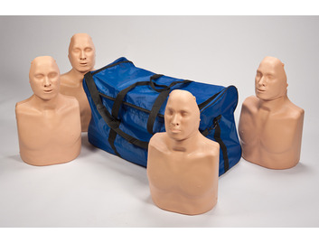 Pack of 4 Practiman adult/child manikins with bag