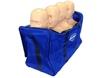 Pack of 4 with carry bag PractiMan Advance CPR Manikin - Adult and Child with advanced airway head
