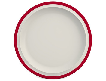 Melamine 26 cm Plate - Rim Colour