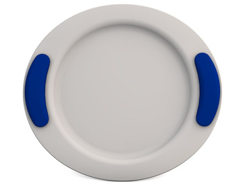 Childrens Flat Plate 25cm - White