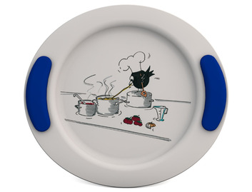 Childrens Decorated Flat Plate 25cm - Cooking