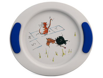 Childrens Decorated Flat Plate 25cm - Hopscotch