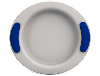 Childrens Decorated Deep Plate 25cm - White
