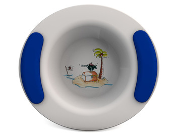 Childrens Decorated Bowl 330ml - Treasure Island