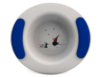 Childrens Decorated Bowl 330ml - Wizard