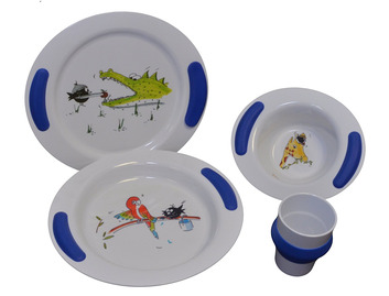 Childrens Dinner 4 Piece Set - Zoo