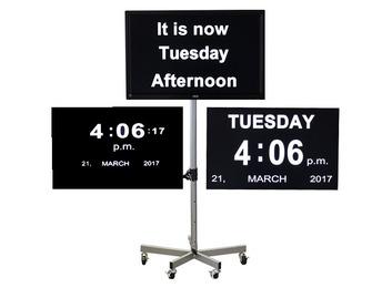 Large Digital Ward Orientation Clock
