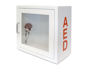 AED Alarmed Metal Storage Cabinet