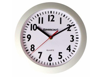 Dementia Friendly - Silent Wall Clock White - 25cm/10""