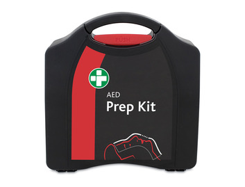 AED Prep Kit - Large Black/Red Compact Aura Box