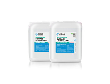 Zidac Multipurpose Surface Disinfectant 5tr Jerry Can x2