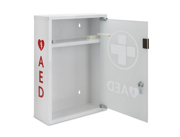 AED Alarmed Metal Cabinet with Shelf
