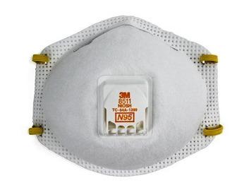 3M N95 valved 8511