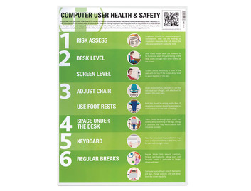 Computer User Health & Safety Poster (Pack of 10)