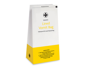 Pack of 25 Lined Vomit / Sick Bags