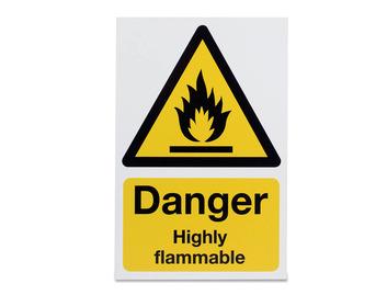 Danger Highly Flammable - Rigid - 297 x 210mm
