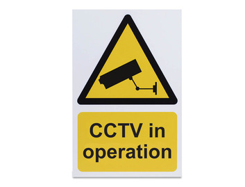 CCTV in Operation - Rigid - 297 x 210mm
