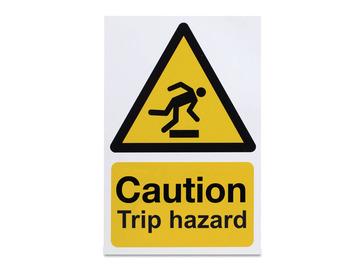 Caution Trip Hazard - Rigid - 297 x 210mm