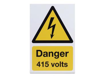 Danger 415 Volts - Rigid - 297 x 210mm