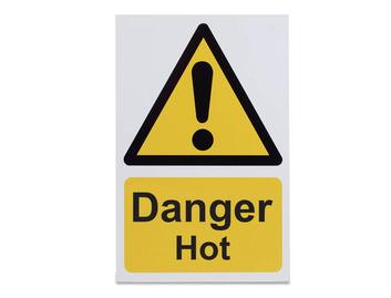 Danger Hot - Rigid - 210 x 148mm
