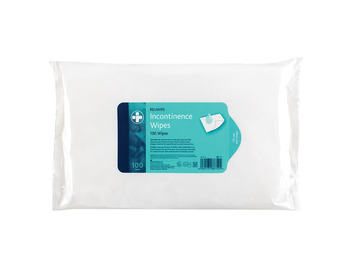 8 Packs of 100 Reliwpe Incontinence Wipes