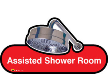 Assisted Shower Room Sign