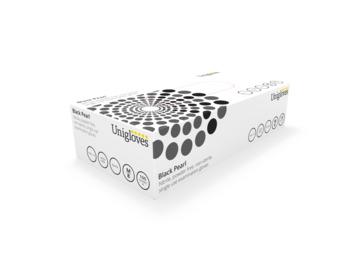 Unigloves: Black Pearl Nitrile Gloves Medium (Box of 100)