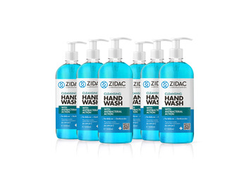 Zidac Hand Wash with Antibacterial Action 500ml Pump x6