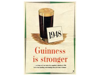 """Guinness is Stronger"" 1948 Poster (FO050)"