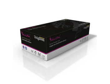 Unigloves: Select Black Nitrile Gloves: Extra Small (Box of 100)