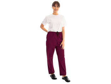 Unisex Scrub Trousers Maroon 145gsm