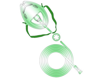 Medline Medium-Concentration Oxygen Mask (Pack of 50)