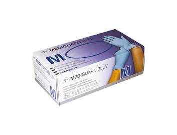MediGuard Blue Nitrile Powder Free Exam Gloves (Box of 200 Medium Gloves)