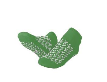 Medline Double Tread Fall Prevention Slipper Socks Green Medium 34-35 (Pack of 48)
