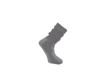 Medline Double Tread Fall Prevention Slipper Socks Grey Bariatric 46+ (Pack of 48)