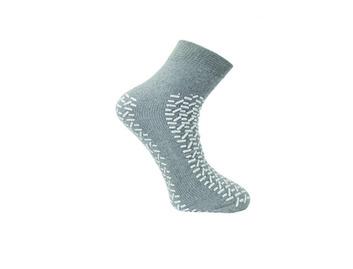 Medline Double Tread Fall Prevention Slipper Socks Grey XXL 44-46 (Pack of 48)