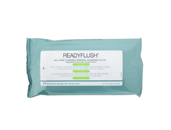 Medline ReadyFlush Scented Dispersible Wipes (Pack of 24)