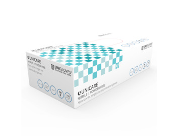 Unigloves: Small Blue Nitrile Gloves (Box of 200)