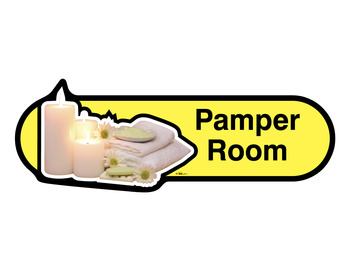 Pamper Room Sign