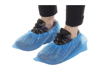 Premier Blue Polythene Overshoes: Box of 100