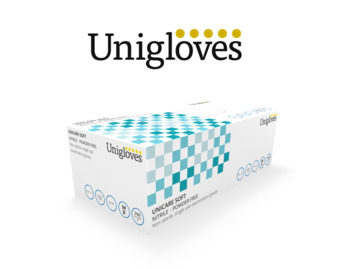 Blue Nitrile Gloves, Case of 2000 (10 x Boxes of 200)