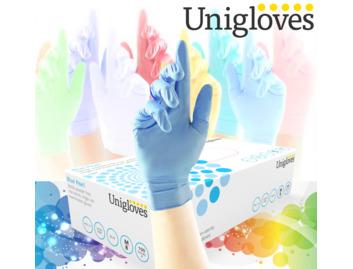 04 Unigloves 100 Pearl Blue Nitrile x 1 Box (Small)