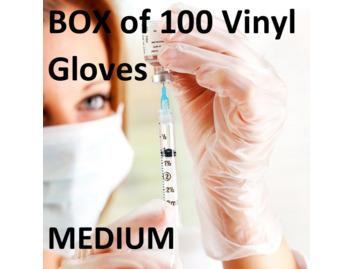 02 Clear Vinyl Gloves x 1 Box (Medium)