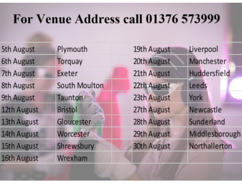 August Virtual Dementia Tour, Call 01376 573999 for more information and to Book your place