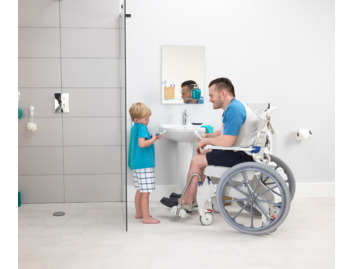 Aquatec Ocean Ergo Self Propel Shower Chair and Commode (150kg)