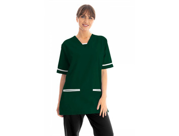 Unisex Scrub Top Bottle Green 145gsm