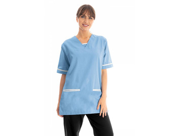 Unisex Scrub Top Hospital Blue 145gsm